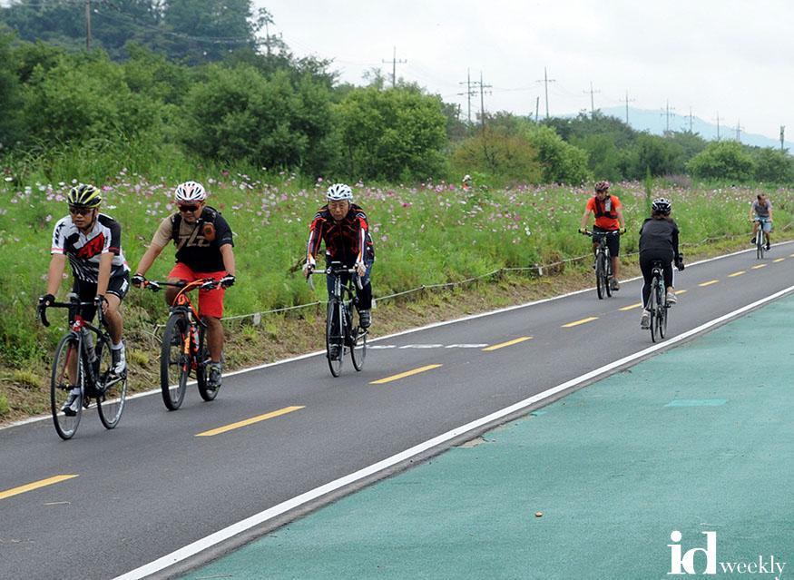 성남 탄천서 자전거 타는 시민들.jpg